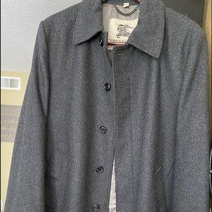 BURBERRY Men's Gray XXL Wool Overcoat